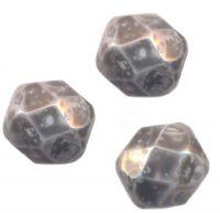 PERLES FACETTES DE BOHEME 8 mm AB ( opaque ) NEBULEUSE NOIRE X 20