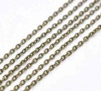 Chaîne Maillon Ouvert Couleur bronze 4x2.5mm X 5 metres