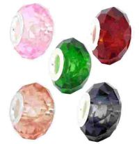 Mixte Perles Verre à Facettes pour Bracelet   14x9mm X 10
