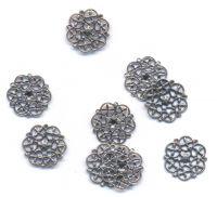 estampes argent 15 mm epaisseur 1 mm taille du trou = 1 mm X 10