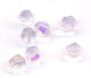 Toupies en crystal 4 mm aquavioline AB X 100