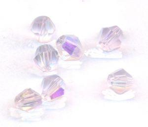 Toupies en crystal 4 mm Aquamarine AB X 100