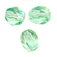 PERLES FACETTES DE BOHEME  6mm 25 perles CHRYSOLITE