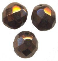 PERLES FACETTES DE BOHEME 6mm AB 25 perles DARK BRONZE