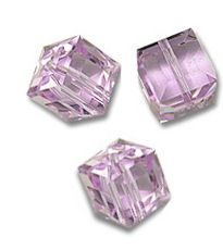 Perles cubes Swarovski 4 mm ( 5601 ) Violet X 6