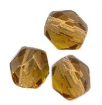 30 facettes de boheme light smoked topaz 10 perles 10 mm 20 perles 8 mm