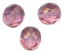 30 facettes de boheme rose antique 10 perles 10 mm 20 perles 8 mm