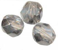 PERLES FACETTES DE BOHEME 6mm 25 perles CRYSTAL COMET ARGENT LMIGHT