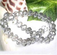Perles cristal light diamond 6x4mm  22pcs