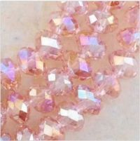 Perles 6 x 4mm, perles  Light rose X 30