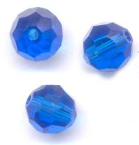 Perles cristal swarovski Rondes 5000 6 mm Capri blue Qte : 6