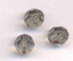 Perles cristal swarovski Rondes 5000 8 mm Black diamond Qte : 6