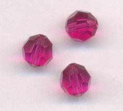 Perles cristal swarovski Rondes 5000 8 mm Fuschia Qte : 6