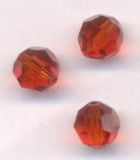 Perles cristal swarovski Rondes 5000 8 mm INDIAN RED Qte : 6