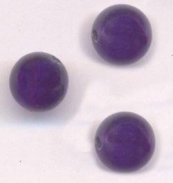Perles 8 mm rondes en verre tchèque PURPLE VELVET X 11