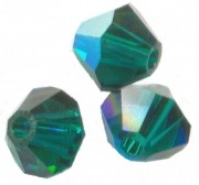 TOUPIES SWAROVSKI® ELEMENTS  4mm   EMERALD AB X 50 perles