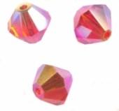 TOUPIES SWAROVSKI® ELEMENTS  4mm   FIRE OPAL AB X 50 perles