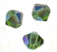 TOUPIES SWAROVSKI® ELEMENTS  4mm  GREEN TURMALINE AB X 50 perles