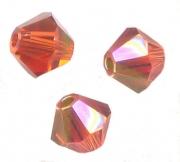 TOUPIES SWAROVSKI® ELEMENTS  4mm   INDIAN RED AB X 50 perles