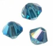 TOUPIES SWAROVSKI® ELEMENTS  4mm    INDICOLITE AB X 50 perles
