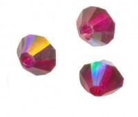 TOUPIES SWAROVSKI® ELEMENTS  4mm    RUBY AB X 50 perles