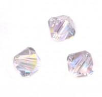 TOUPIES SWAROVSKI® ELEMENTS  4mm  SMOKY MAUVE AB X 50 perles