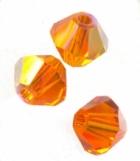 TOUPIES SWAROVSKI® ELEMENTS  4mm   SUN AB X 50 perles