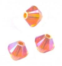 TOUPIES SWAROVSKI® ELEMENTS  4mm    TANGERINE AB  X 50 perles