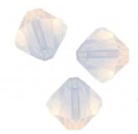 TOUPIES SWAROVSKI® ELEMENTS  4mm   WHITE OPAL AB X 50 perles