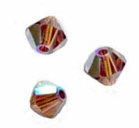TOUPIES SWAROVSKI® ELEMENTS  4mm   SMOKED TOPAZ AB X 50 perles
