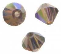 TOUPIES SWAROVSKI® ELEMENTS  4mm  SMOKY QUARTZ AB X 50 perles