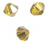 TOUPIES SWAROVSKI® ELEMENTS  4 mm LIGHT TOPAZ satin 50 perles