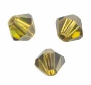 TOUPIES SWAROVSKI® ELEMENTS  4 mm LIME satin 50 perles