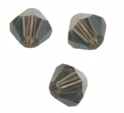 TOUPIES SWAROVSKI® ELEMENTS  4mm MORION satin 50 perles