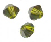 TOUPIES SWAROVSKI® ELEMENTS  4mm OLIVINE satin 50 perles