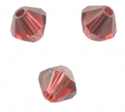 TOUPIES SWAROVSKI® ELEMENTS  4 mm PADPARADSCHA satin 50 perles