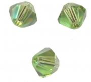 TOUPIES SWAROVSKI® ELEMENTS  4 mm PERIDOT satin 50 perles