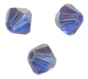 TOUPIES SWAROVSKI® ELEMENTS  4mm SAPPHIRE satin 50 perles