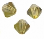 TOUPIES SWAROVSKI® ELEMENTS 6MM  KAKHI X 20 perles