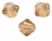 TOUPIES SWAROVSKI® ELEMENTS  6MM  LIGHT COLORADO TOPAZ X 20 perles