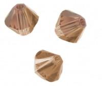 TOUPIES SWAROVSKI® ELEMENTS  6MM  LIGHT SMOKED TOPAZ X 20 perles