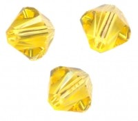 TOUPIES SWAROVSKI® ELEMENTS  6MM  LIGHT TOPAZ X 20 perles
