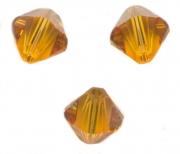 TOUPIES SWAROVSKI® ELEMENTS  6MM  TOPAZ X 20 perles