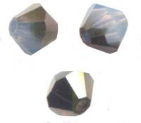 TOUPIES SWAROVSKI® ELEMENTS  4mm AB WHITE OPAL SKY BLUE  X 50 perles