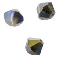 TOUPIES SWAROVSKI® ELEMENTS  4mm AB WHITE OPAL STAR SHINE  X 50 perles