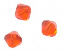 TOUPIES SWAROVSKI® ELEMENTS  6MM  RED TOPAZ X 20 perles
