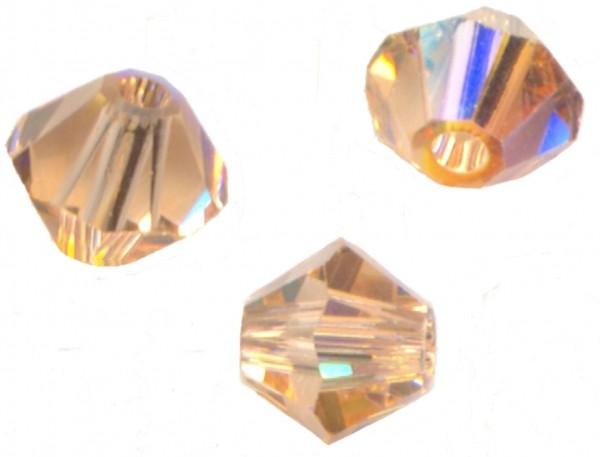 **25 perles toupies 4 mm AB SWAROVSKI PALACE GREEN OPAL AB   5328 **